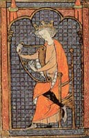 king david and his harp